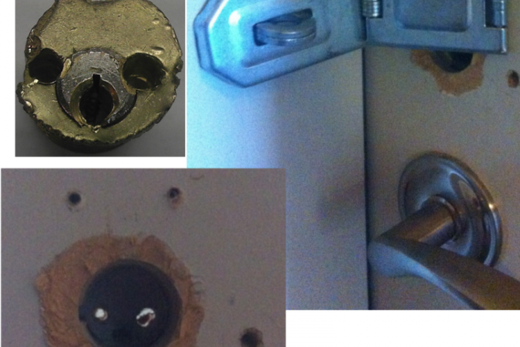 This is what happens when you hire an untrained locksmith!